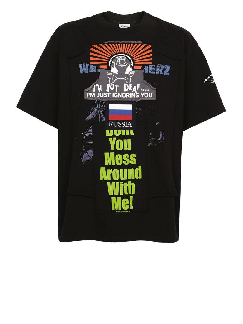 VETEMENTS - Patchwork T-shirt - Black