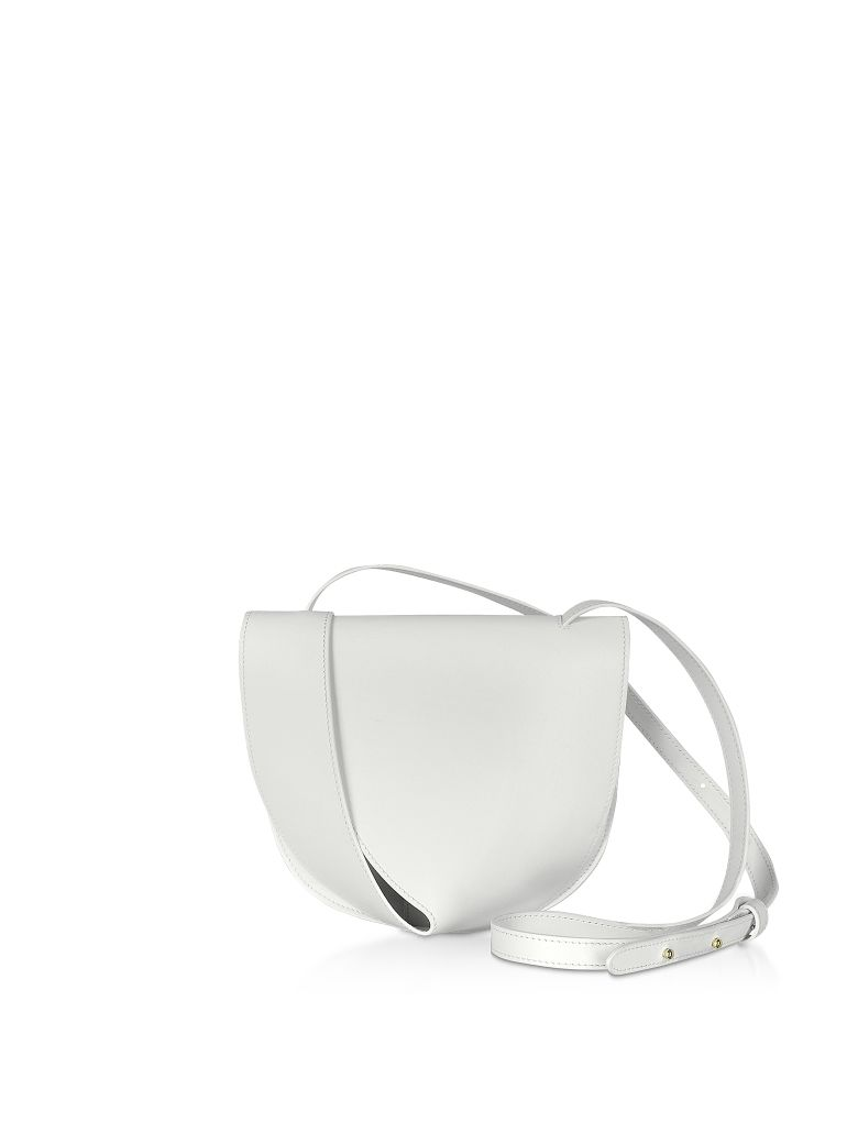 Giaquinto Candy Saddle Shoulder Bag - White