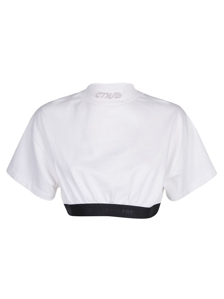 HERON PRESTON Crop Top - White white