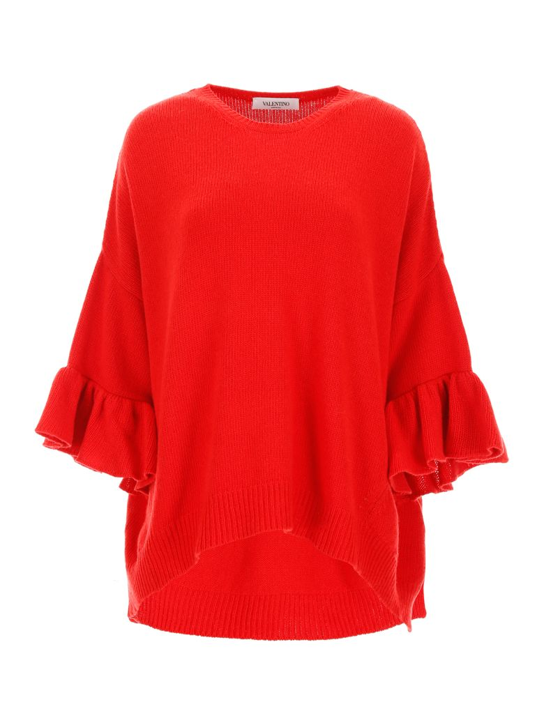 Valentino Ruffled Pullover - ROSSO (Red)