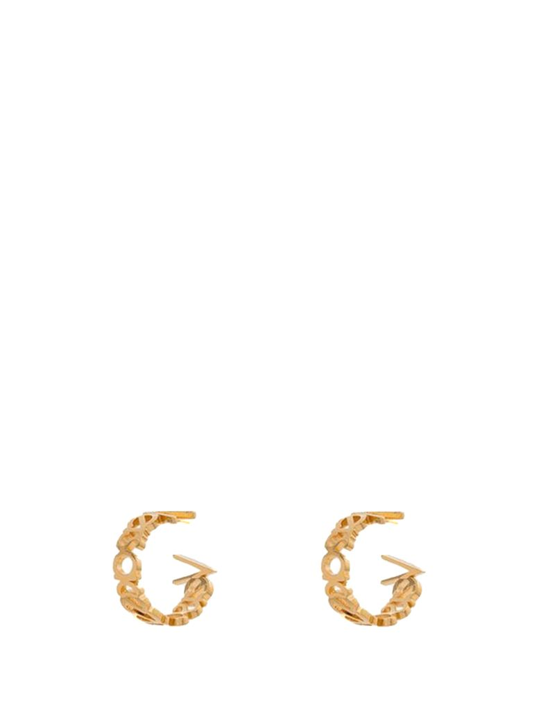 Versace Versace Logo-lettering Hoop Earrings - Oro
