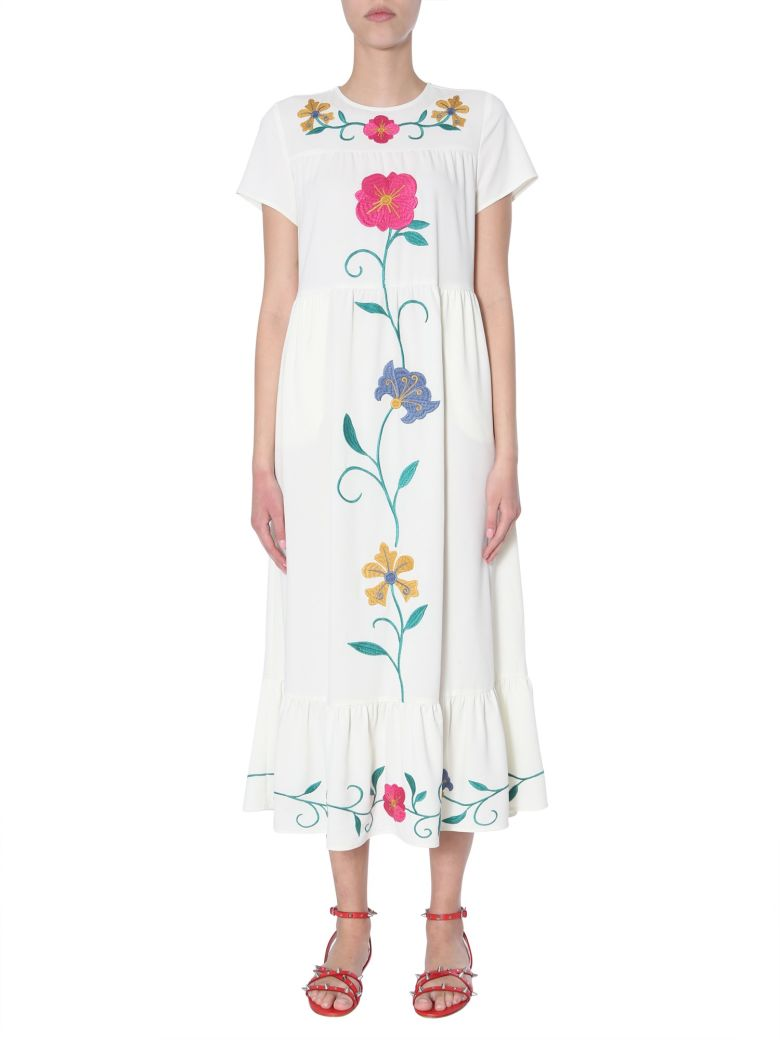 RED Valentino Sable Crepe Dress - AVORIO