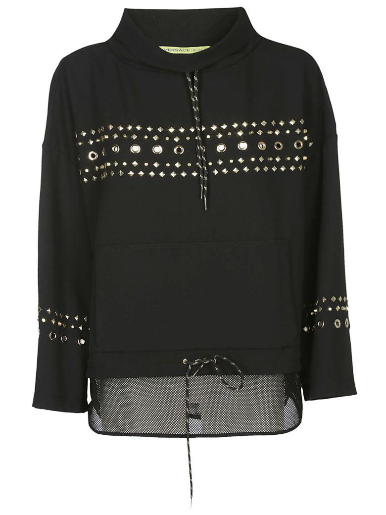 Versace Jeans Rockstud Hoodie - Black