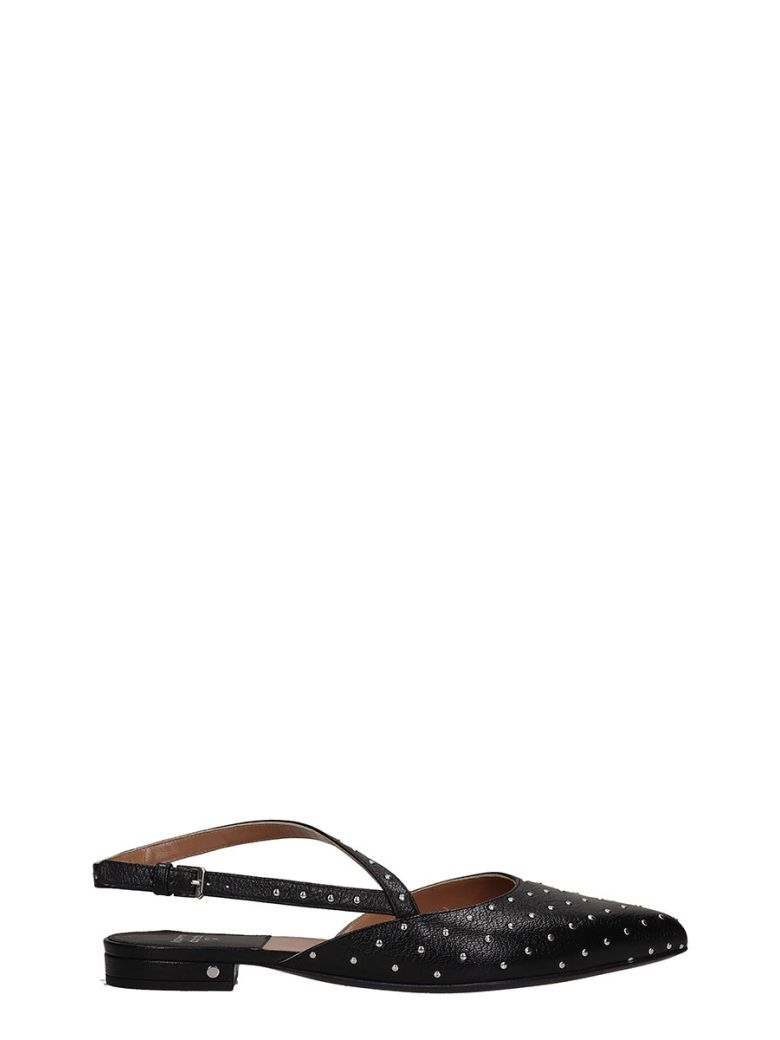 Laurence Dacade Anael Ballet Flats In Black Leather - black