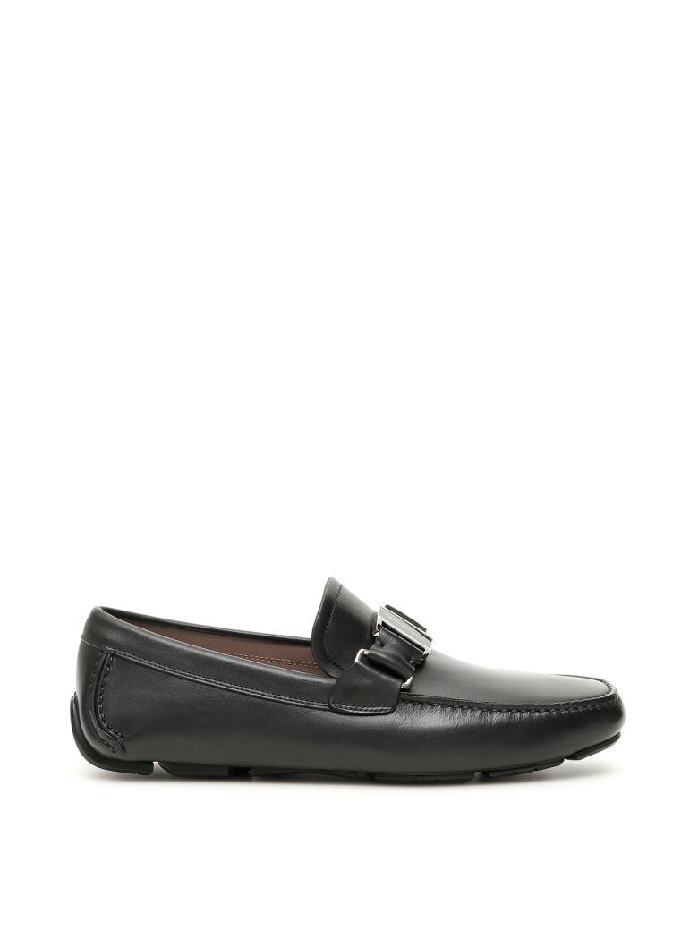 Salvatore Ferragamo Sardegna Driving Shoes - BLACK (Black)