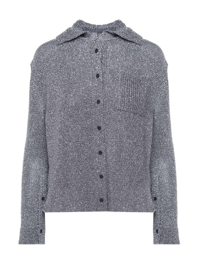 Krizia Lurex-knit Shirt - Argento