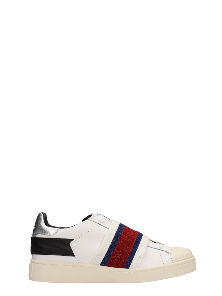 M.O.A. master of arts White Leather Sneakers - white