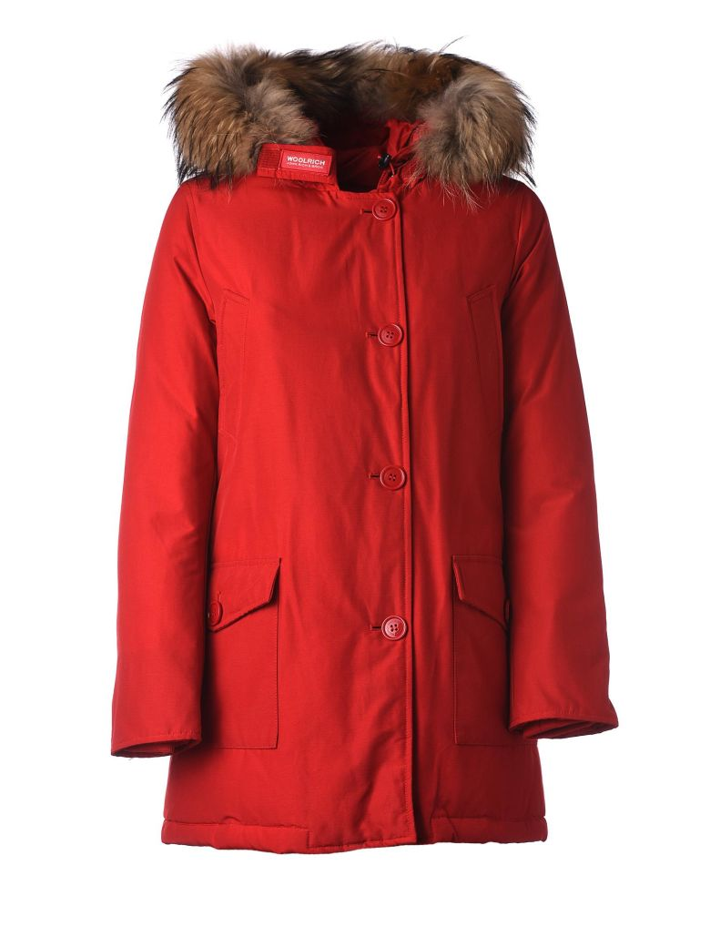 Woolrich Red Winter Parka - ROSSO