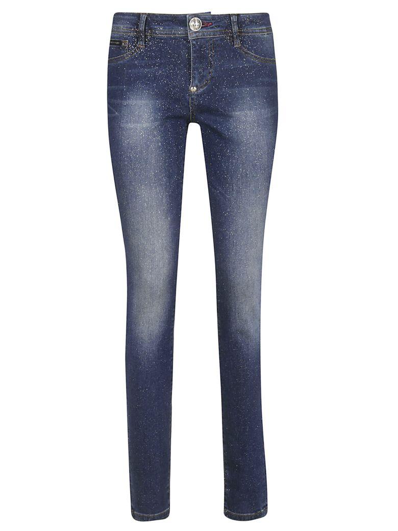 Philipp Plein Skinny Fit Trousers - Blue