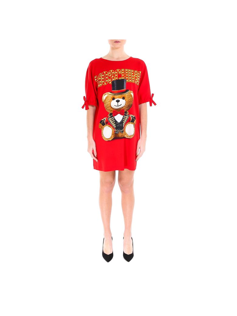 Moschino Teddy Circus Dress - Red