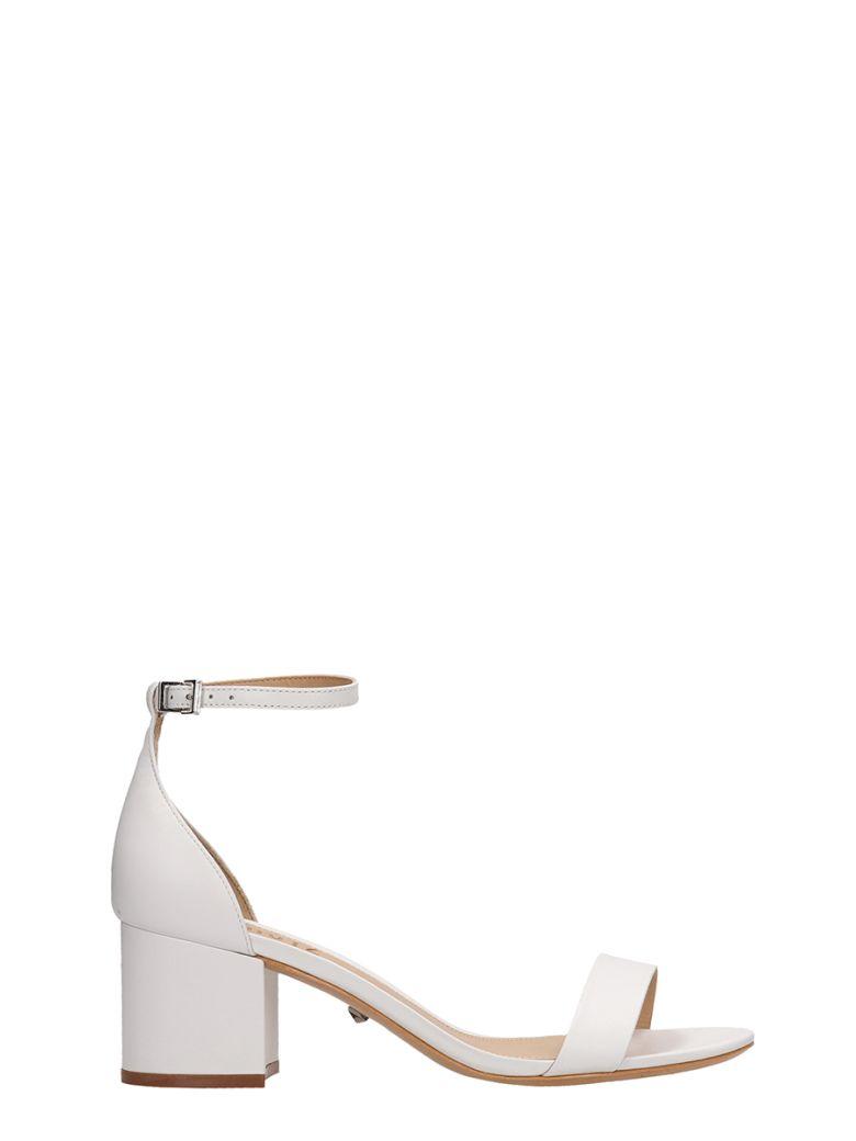 Schutz White Leather Sandals - white