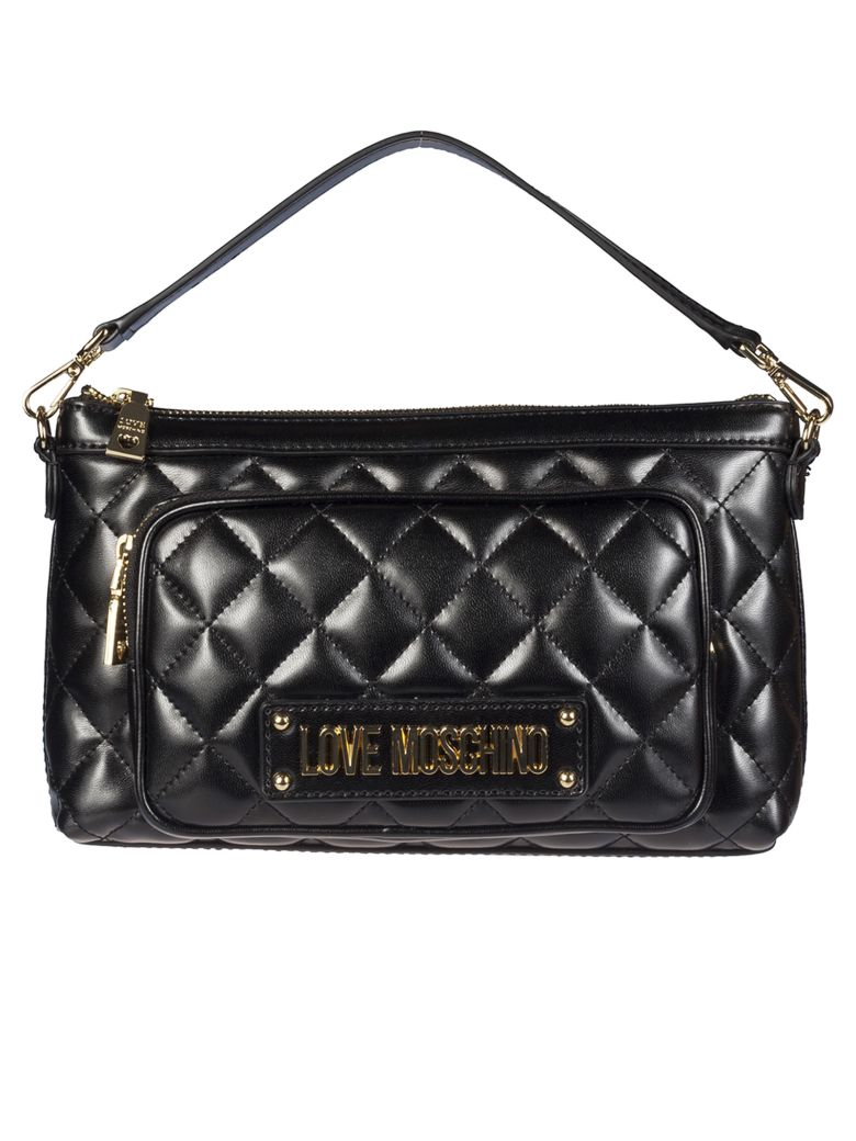 Love Moschino Quilted Crossbody Bag - Black