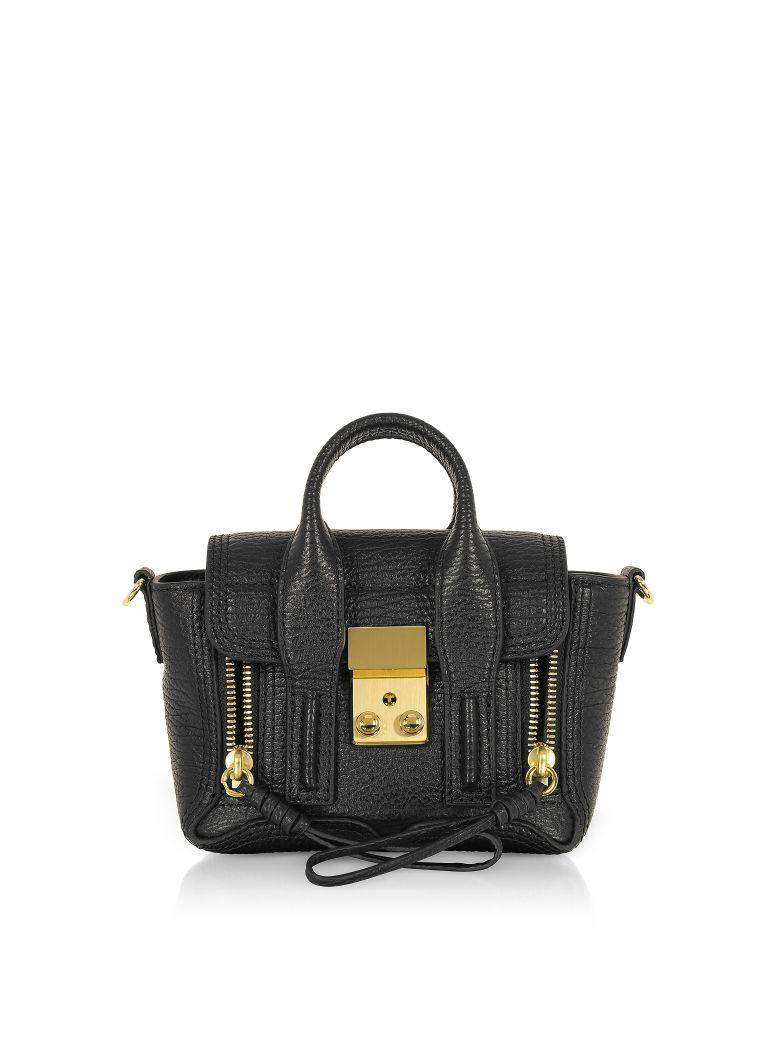 3.1 Phillip Lim Black Leather Pashli Nano Satchel Bag - Black