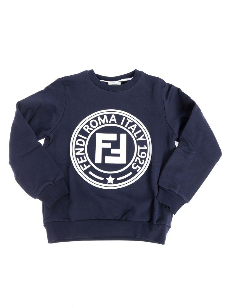 Fendi Kids Ff Logo Oversized Sweatshirt