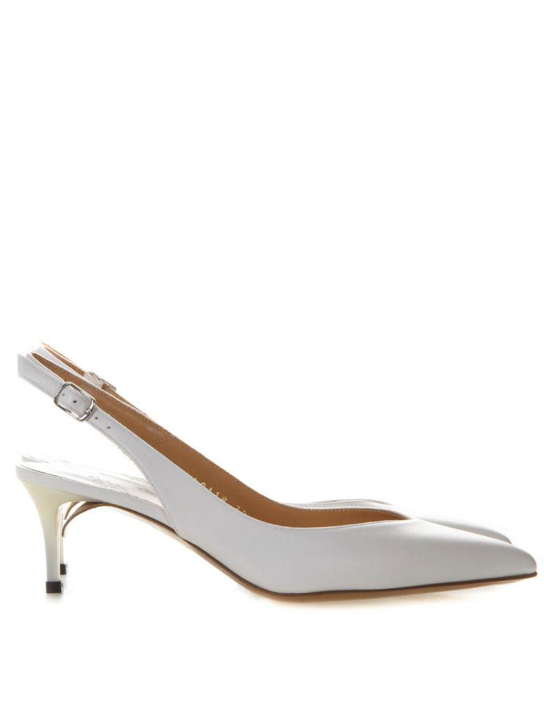 Maison Margiela White Leather Slingback - White