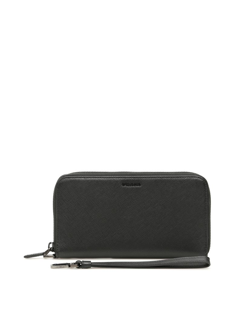 Prada Zip-around Wallet With Wristlet - NERO (Black)