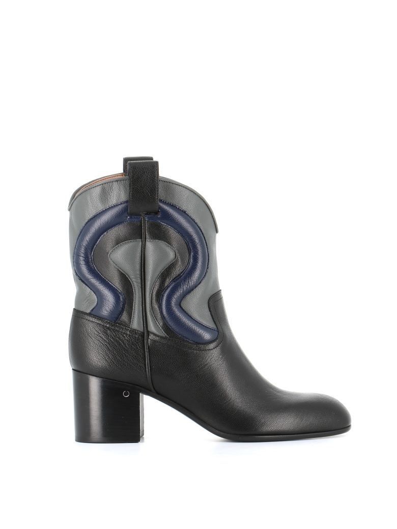 """Laurence Dacade Ankle Boots """"tiago"""" - Black/blue"""