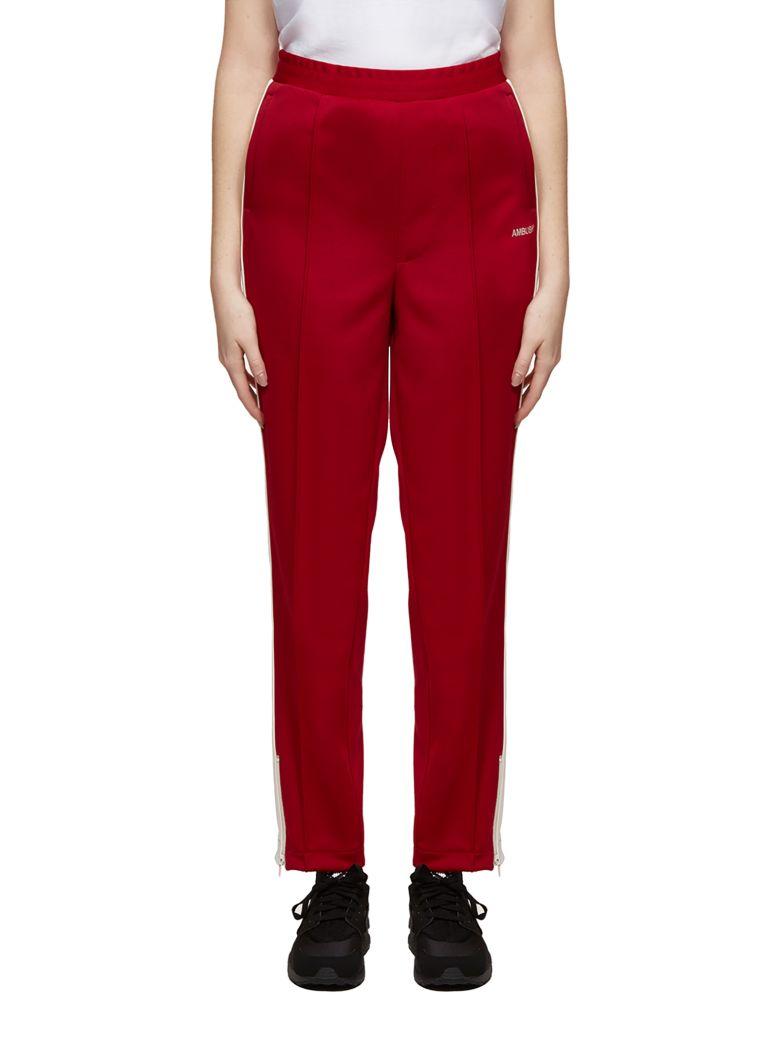 AMBUSH Side Stripe Track Pants - Rosso avorio