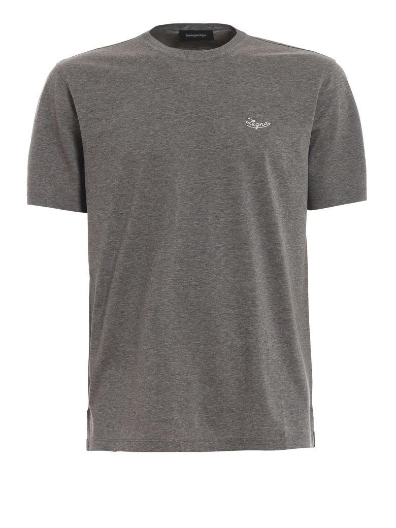 Ermenegildo Zegna Contrast Logo T-shirt - Gray