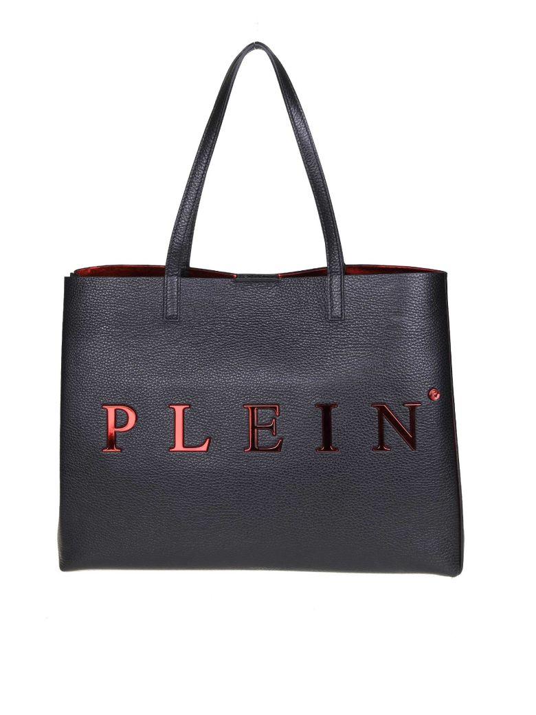 Philipp Plein Black Leather Handle Bag - Black