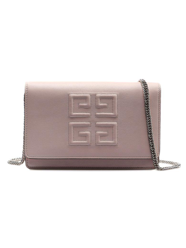 Givenchy Logo Embroidered Shoulder Bag - Pale Pink