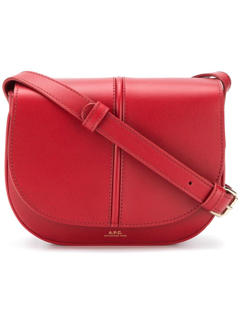 A.P.C. Flap Shoulder Bag - Gab Rouge Fonce