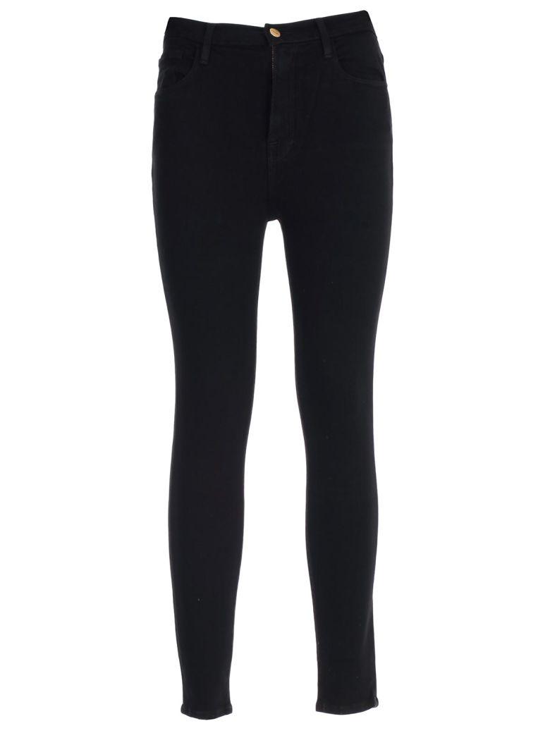 Frame Jeans Skinny Elastic High Waist - Noir