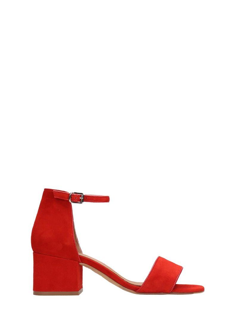Julie Dee Red Suede Sandals - Red