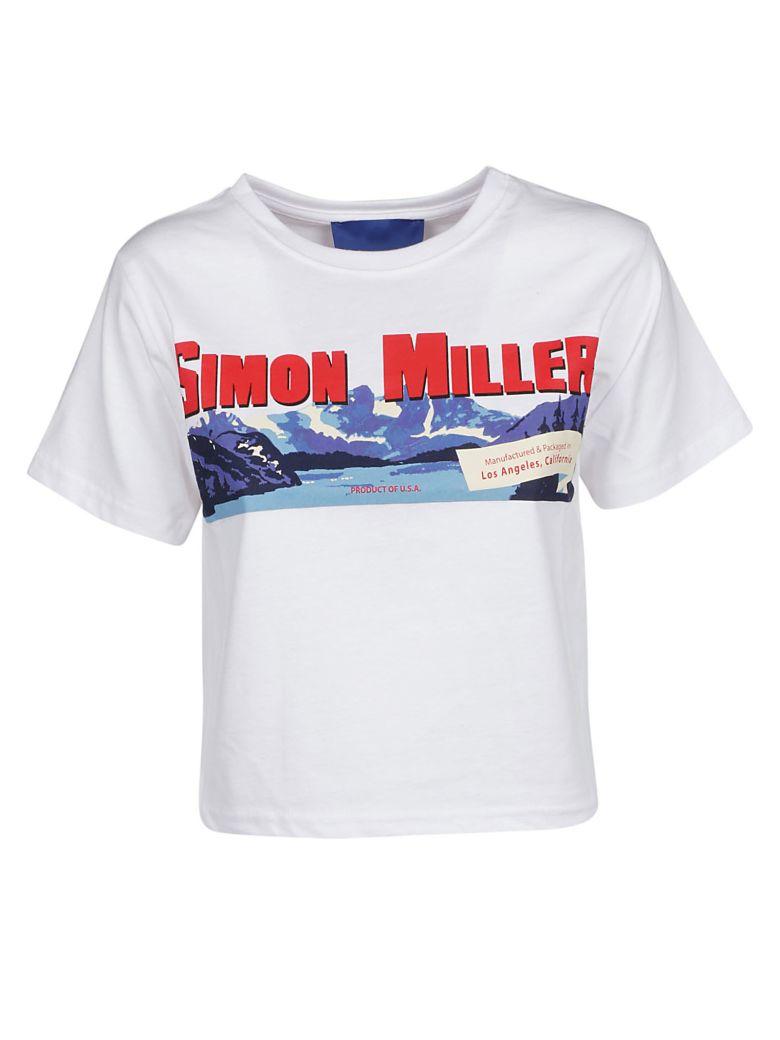 Simon Miller Rando Cropped T-shirt - White Sm Mountain Print