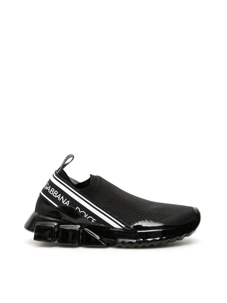 Dolce & Gabbana Sorrento Melt Knit Sneakers - NERO (Black)