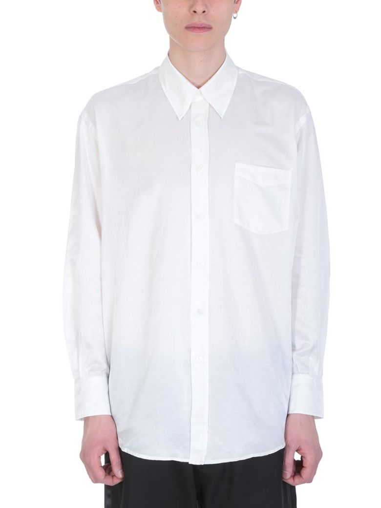 Our Legacy White Cotto And Silk Shirt - white