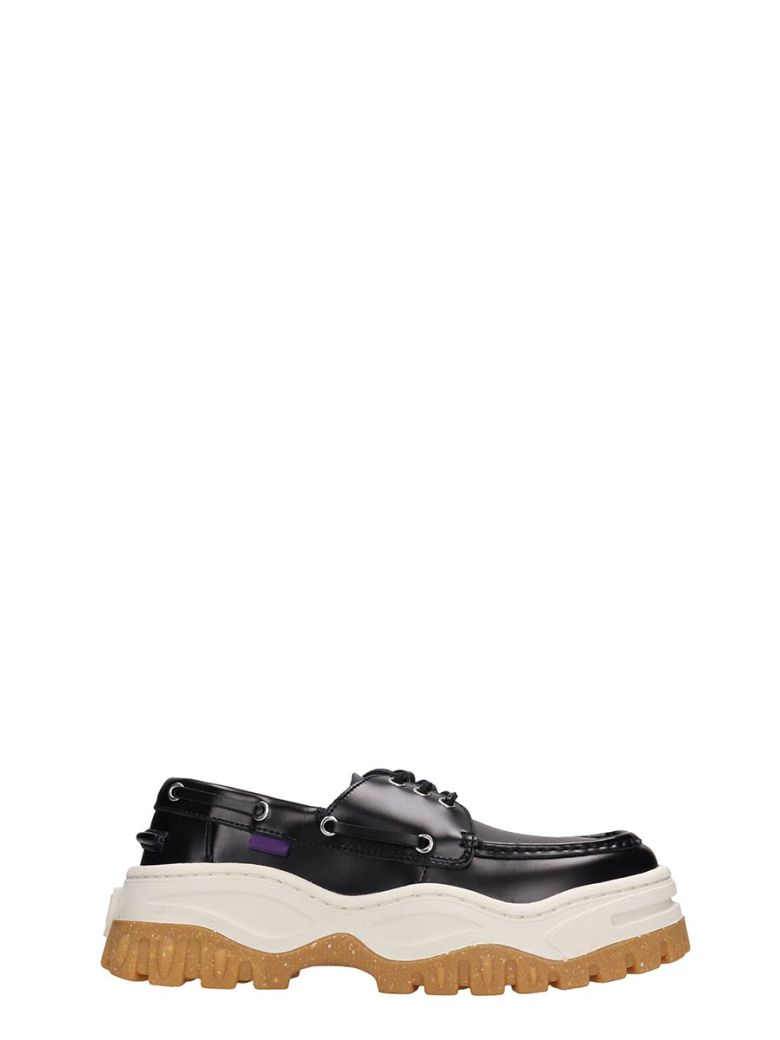 Eytys Loafers BLACK LEATHER MYKONOS LOAFERS