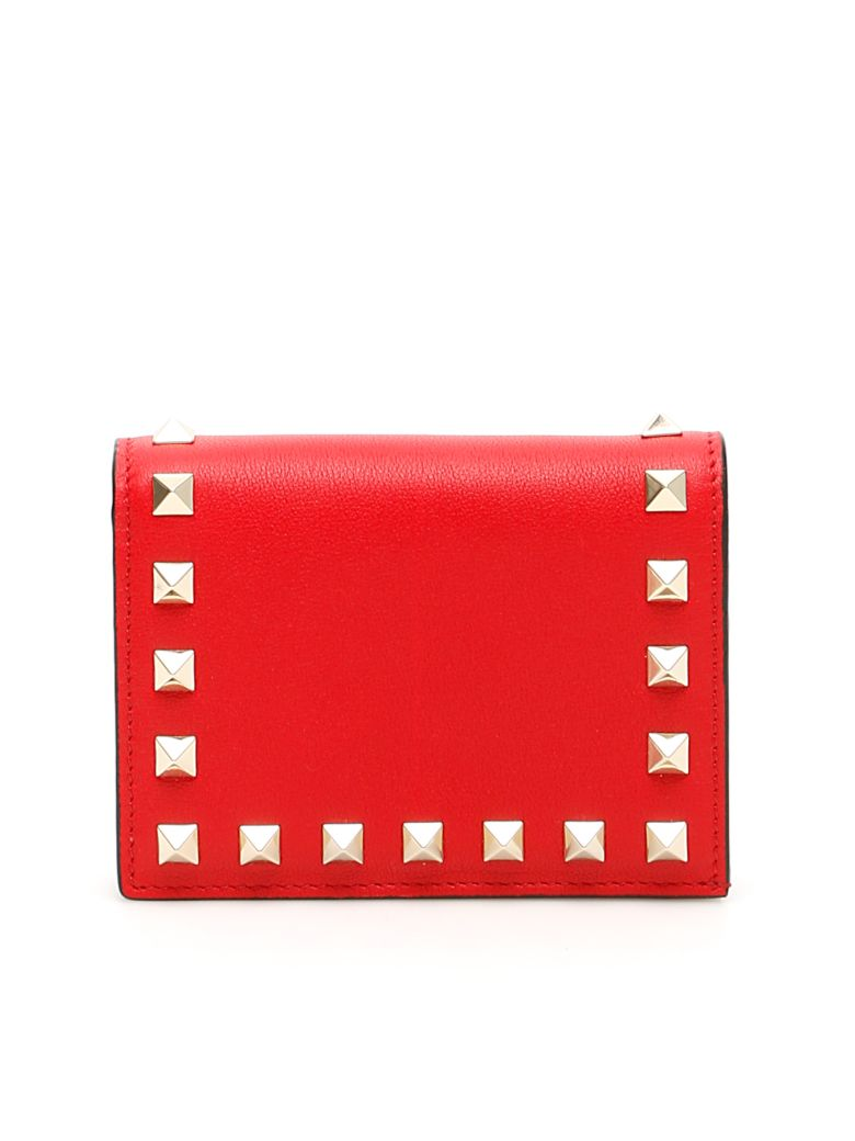Valentino Garavani Rockstud Wallet - ROUGE PUR (Red)