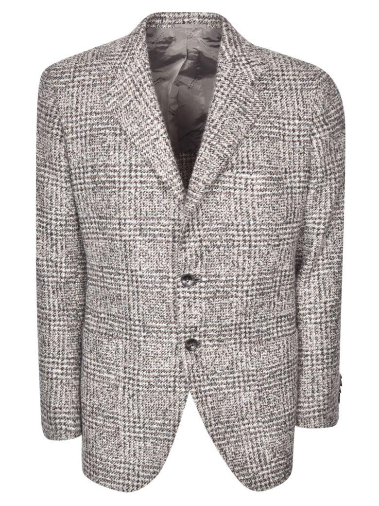 Kiton Patterned Blazer - Grey