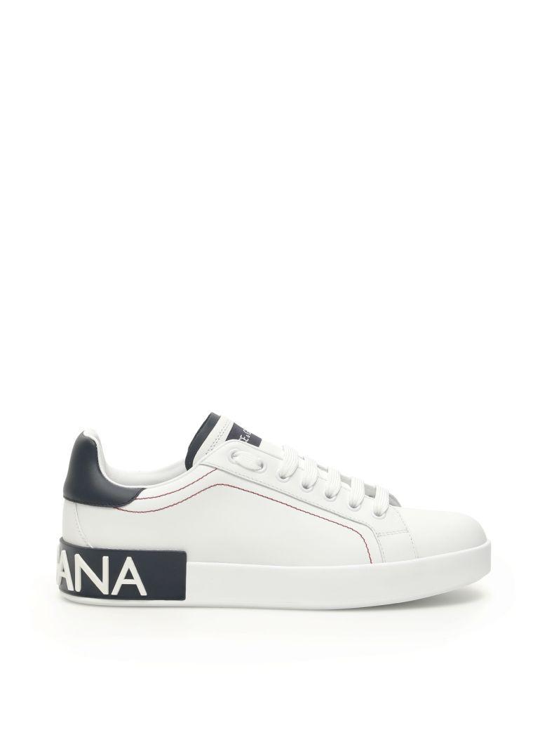 Dolce & Gabbana Portofino Sneakers - BIANCO BLUEBERRY (White)