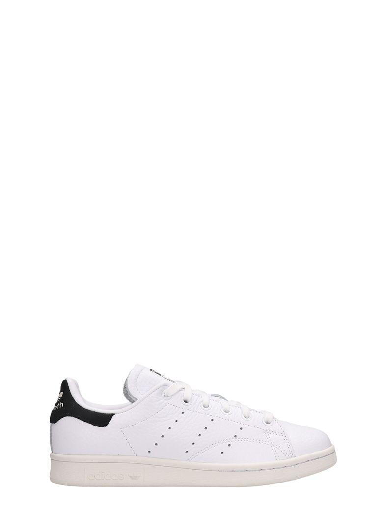 Adidas White Leather Stan Smith Sneakers - white