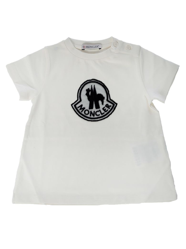 Moncler Kids Wide Fit Logo Patch T-shirt