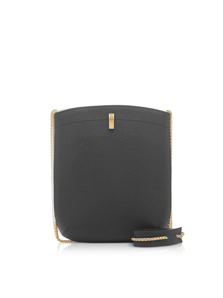 the VOLON E.z. Carry Black Leather Bag - Black