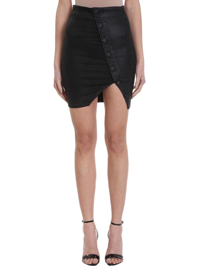 RTA Black Leather Pencil Skirt - Black