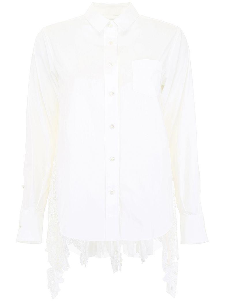Sacai Shirt With Lace - WHITE (White)