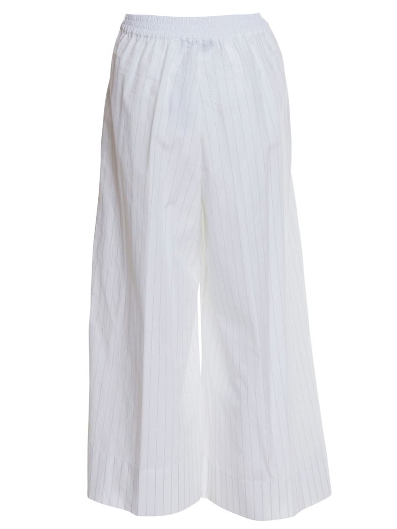 Stefano Mortari Wide Leg Trousers - BIANCO