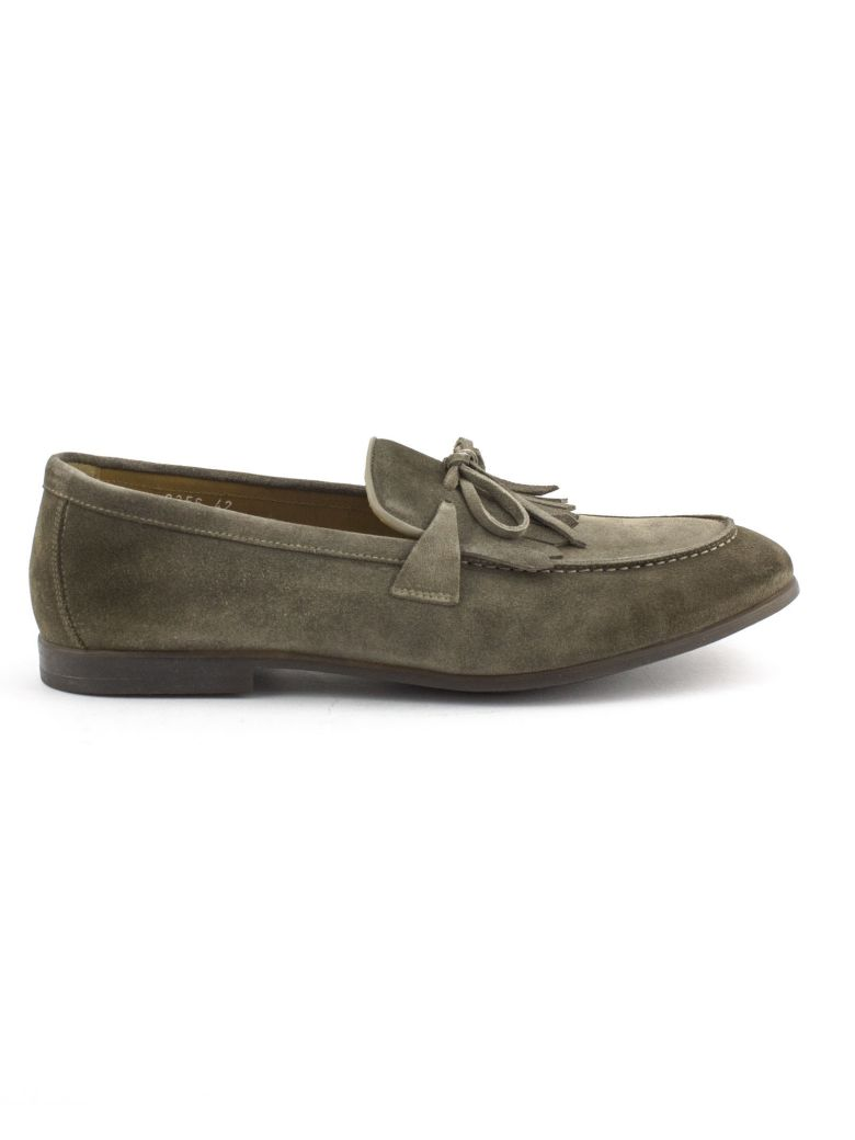Doucal's Taupe Suede Loafer - Sabbia