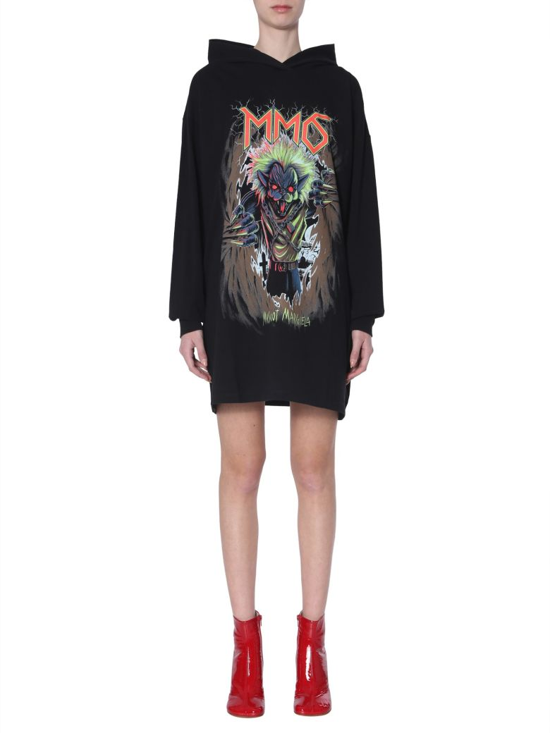 MM6 Maison Margiela Hooded Dress - NERO