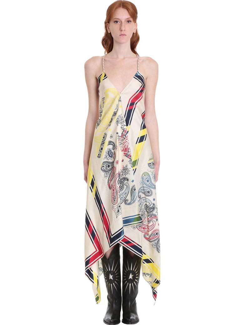 Golden Goose Blancket Dress In White Silk - Print bandana