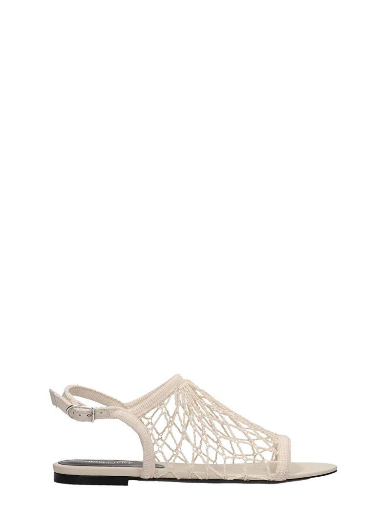 Sonia Rykiel Beige Canvas Flat Sandals - beige