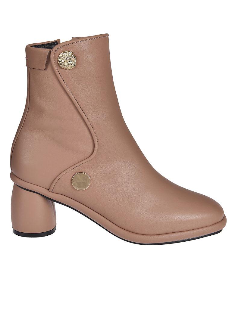 Reike Nen Button Detail Ankle Boots - Rosa