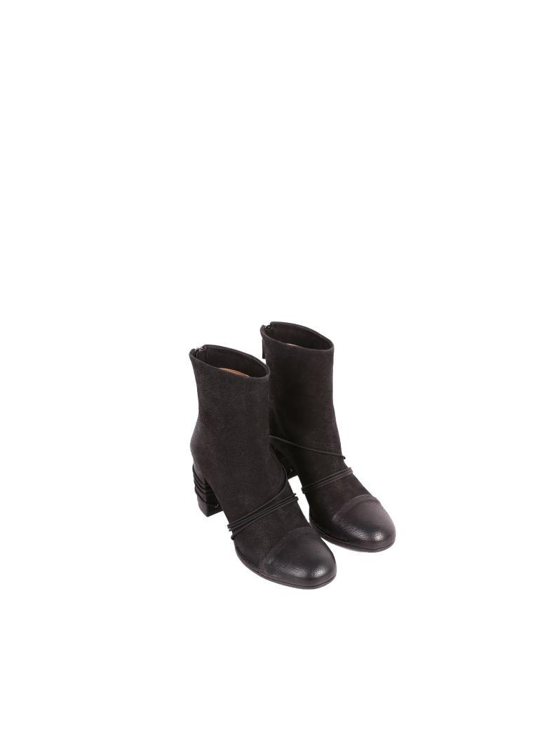 Roberto del Carlo Del Carlo Leather Ankle Boots - BLACK