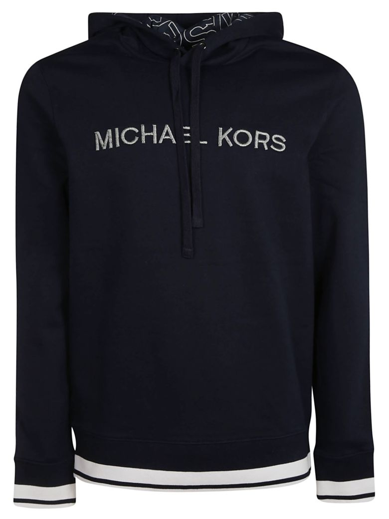 Michael Kors Embroidered Logo Hoodie - Midnight