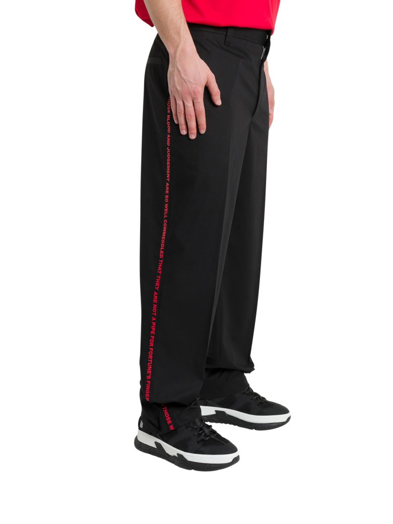 Burberry Contrasting Tailored Trousers - Nero