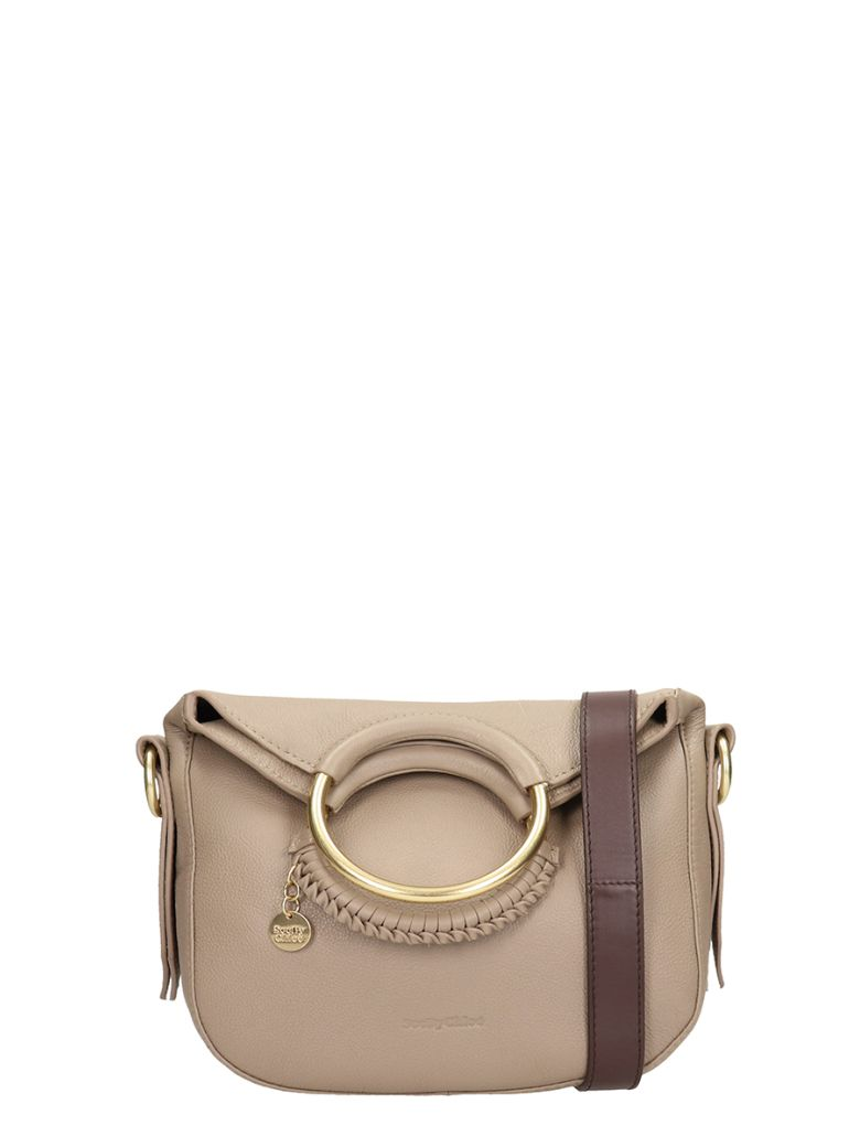 See by Chloé Grey Leather Monroe Small Bag - grey